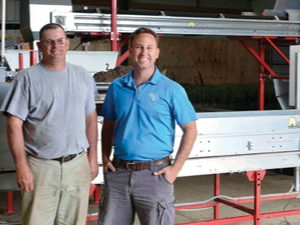 Jeff Little, Latham's South Carolina division manager, (left) and Hunter Latham - Latham's Nursery